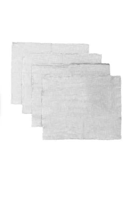 Silver Linen Placemats (Set of 4)