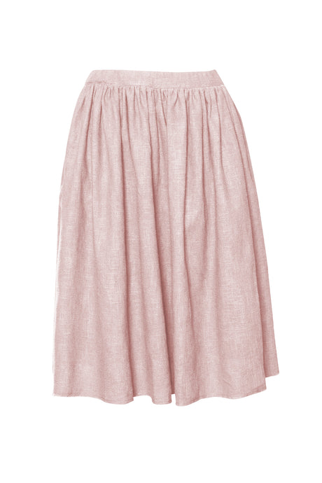 Blush  Raw Edge Linen Skirt