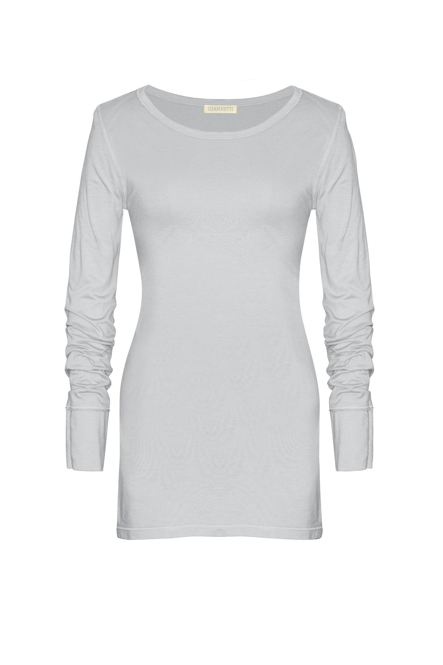 Silver Long Sleeve Tee Shirt