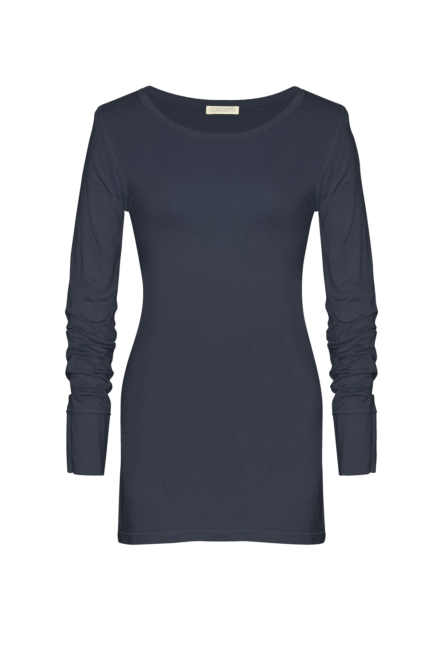 GIANNETTI INDIGO LONG SLEEVE TEE SHIRT