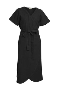 GIANNETTI BLACK WRAP DRESS