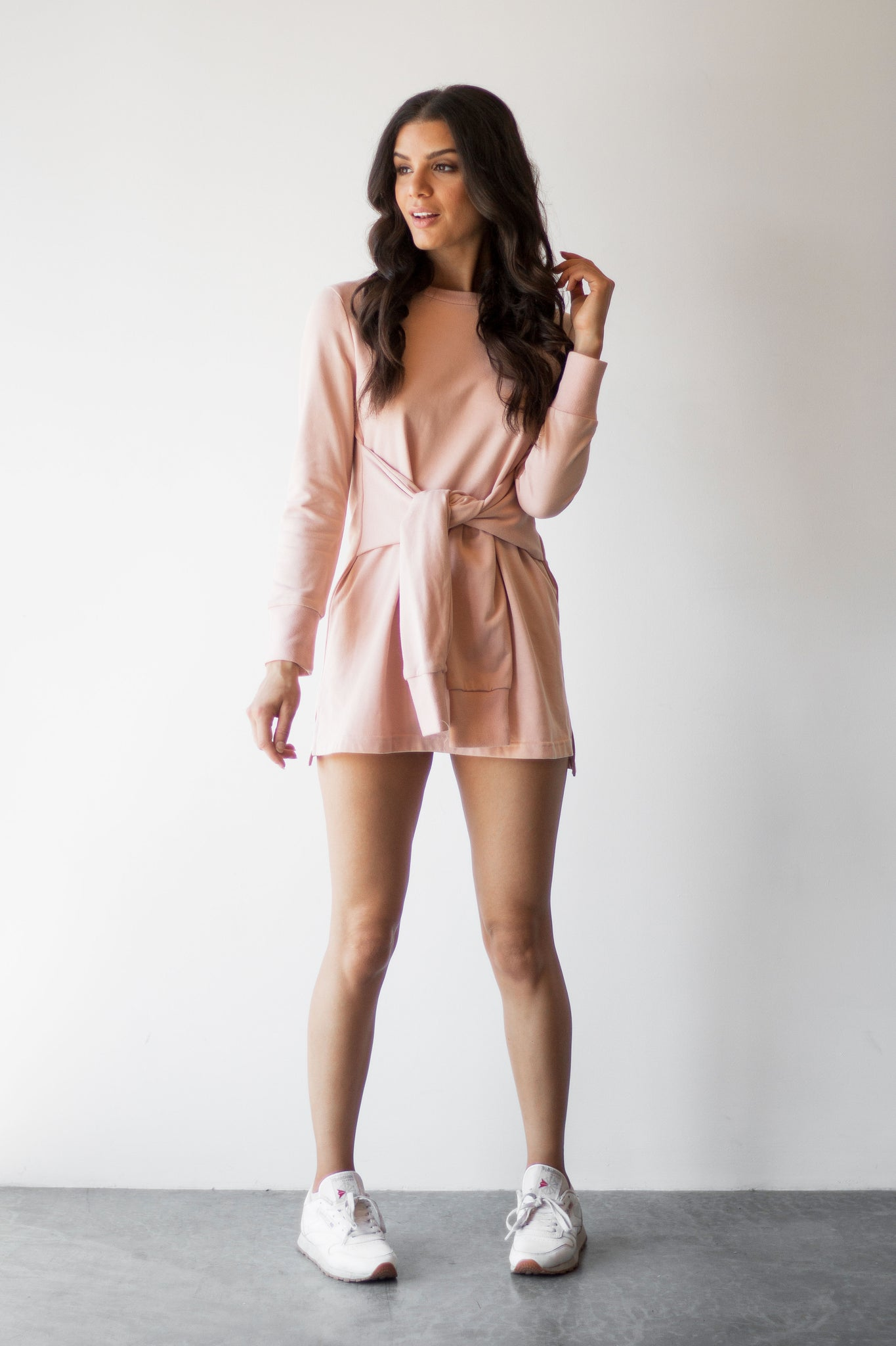 AIDY SWEATSHIRT DRESS - PINK