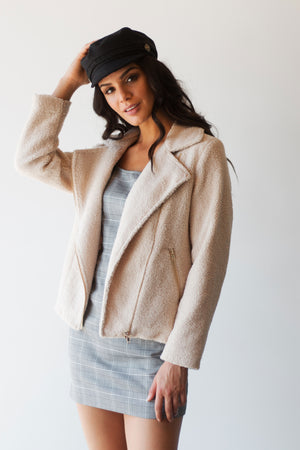 RISSA TEDDY BEAR COAT - BEIGE
