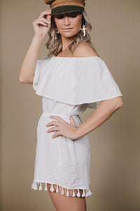 ACAPULCO PLAYSUIT - WHITE