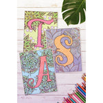 Coloring Monogram Pages - MikalaLei Hawaiian Styling