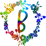 Rainbow color monogram-B