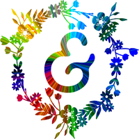Rainbow Monogram - Ampersand