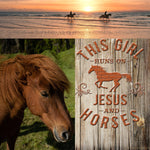 Country Girls & Horses-Runs on Jesus