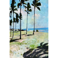 Watercolor Hawaiian Beach - MikalaLei Hawaiian Styling