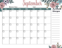 FLORAL CALENDAR VARIETY PACK-Free with sign up