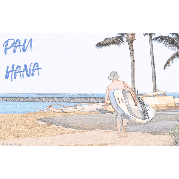 ʻPau Hanaʻ watercolor photo-for new subscribers - MikalaLei Hawaiian Styling