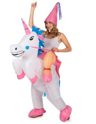 deguisement costume licorne gonflable femme