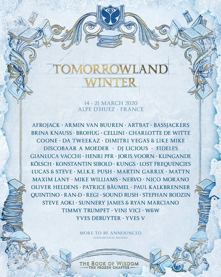 tomorrowland winter 2020 programmation