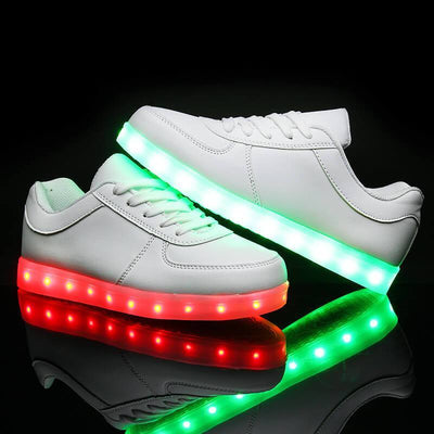 Chaussures à LED multicolores Rechargeables USB | Festival Gear