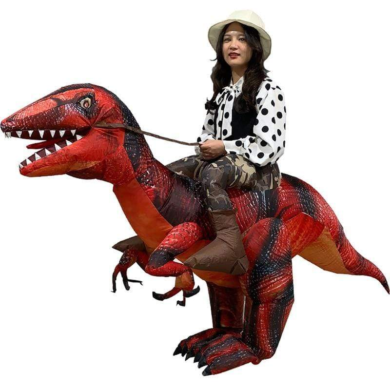 Costume Raptor Gonflable Réaliste à Chevaucher