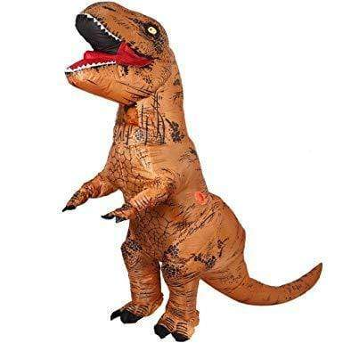 Costume T-Rex Marron Géant Gonflable