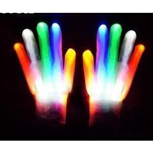 Gants Lumineux à LED Colorés | Festival Gear Multicolore