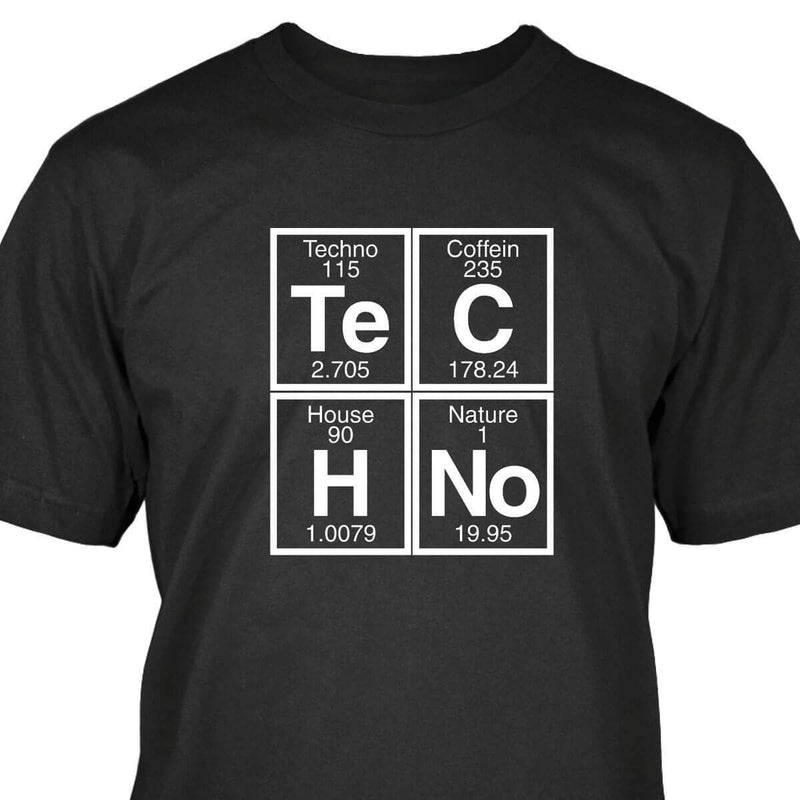 T-Shirt Techno Chimie Noir