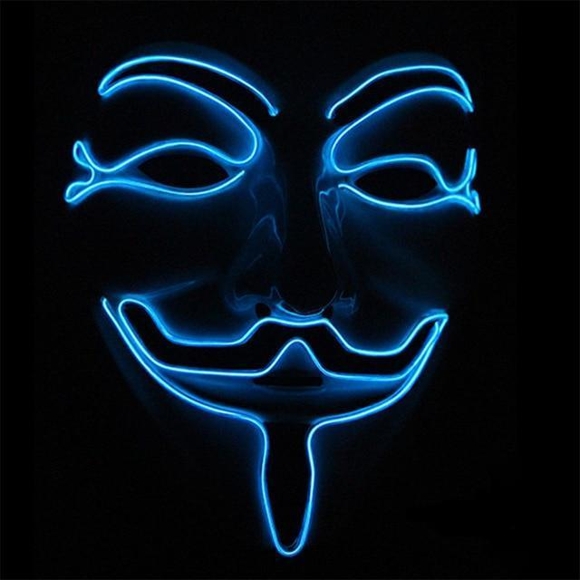 Masque à LED Guy Fawkes