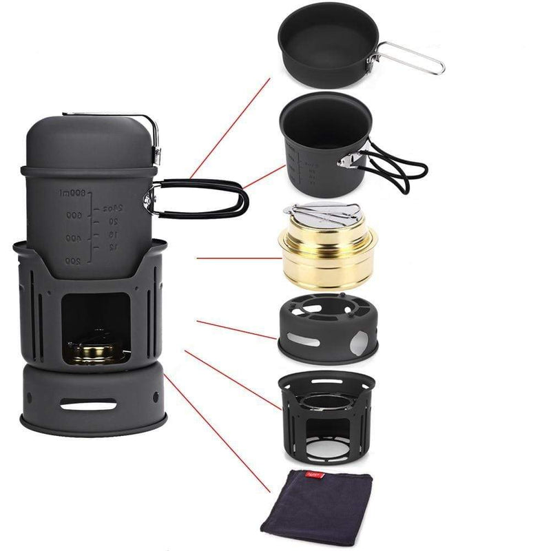 Set Complet Barbecue de Camping | Festival Gear