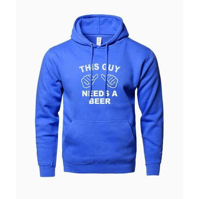"Sweatshirt ""THIS GUY NEEDS A BEER"" 