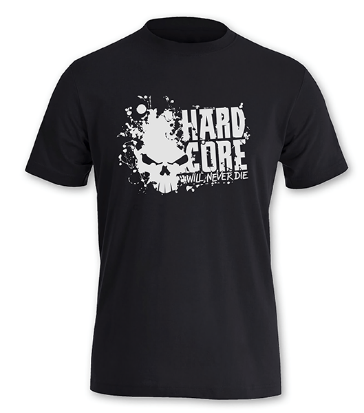 T-Shirt Hardcore will never die Femme / XL