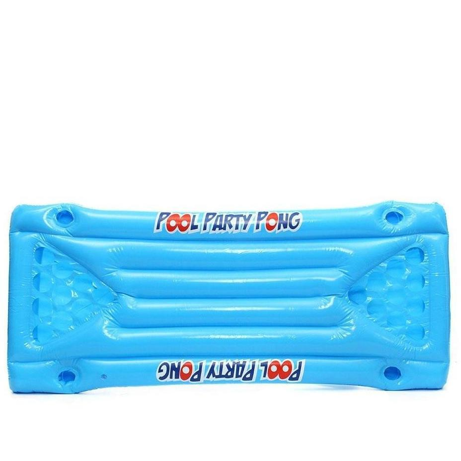 Table de Beer Pong Gonflable 24 Orifices Bleu