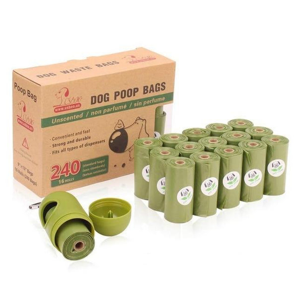 Biodegradable Waste Bags + Dispenser (16 Rolls)