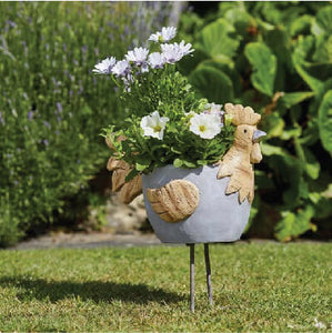 Woodstone Rooster Planter