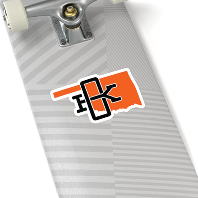 Oklahoma Home State Sticker (Orange & Black)