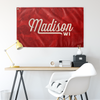 Madison Wisconsin Wall Flag (Red & Off-White)-Allegiant Goods Co.