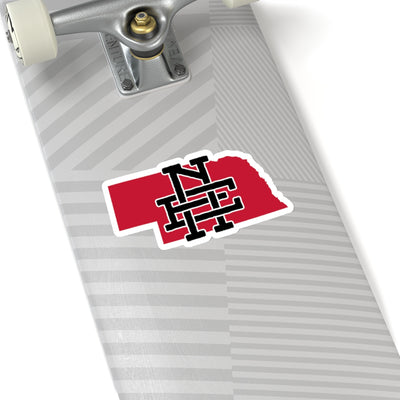 Nebraska Home State Sticker (Black & Red)