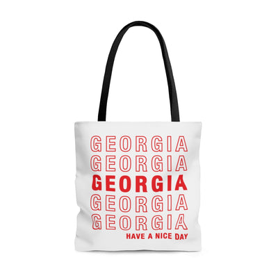 Georgia Retro Thank You Tote Bag