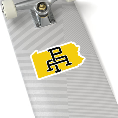 Pennsylvania Home State Sticker (Yellow & Black)