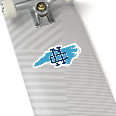 North Carolina Home State Sticker (Navy & Carolina Blue)