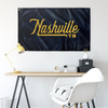Nashville Tennessee Wall Flag (Blue & Yellow)-Allegiant Goods Co.