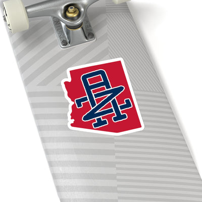 Arizona Home State Sticker (Red & Navy Blue)