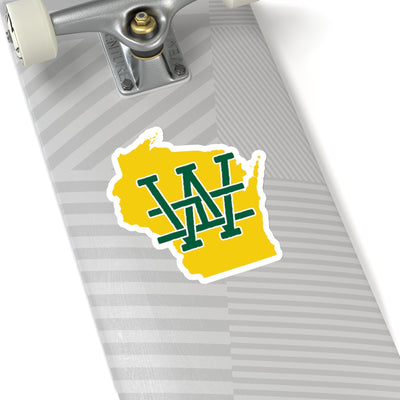 Wisconsin Home State Sticker (Green & Yellow)