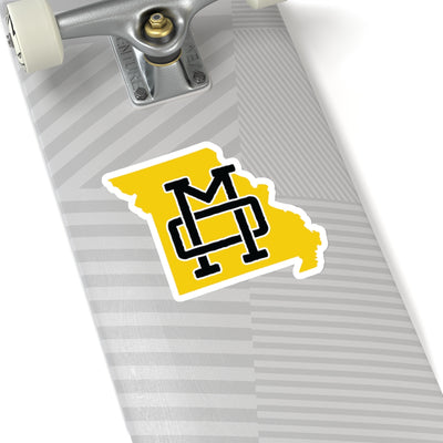 Missouri Home State Sticker (Black & Yellow)
