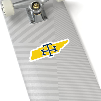 Tennessee Home State Sticker (Yellow & Navy Blue)