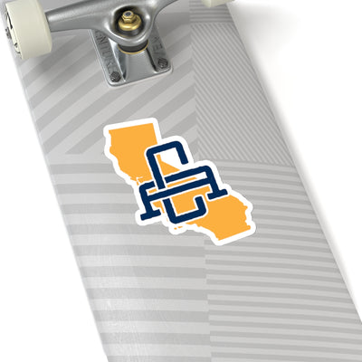 California Home State Sticker (Yellow & Navy Blue)