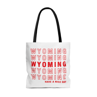 Wyoming Retro Thank You Tote Bag