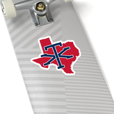 Texas Home State Sticker (Red & Navy Blue)