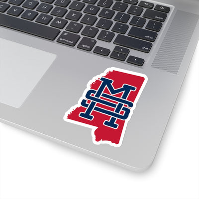Mississippi Home State Sticker (Navy Blue & Red)