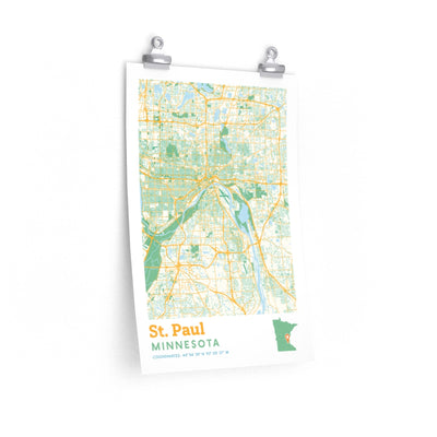 St. Paul Minnesota City Street Map Poster-Allegiant Goods Co.