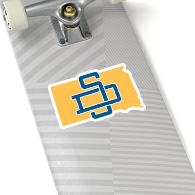 South Dakota Home State Sticker (Blue & Yellow)