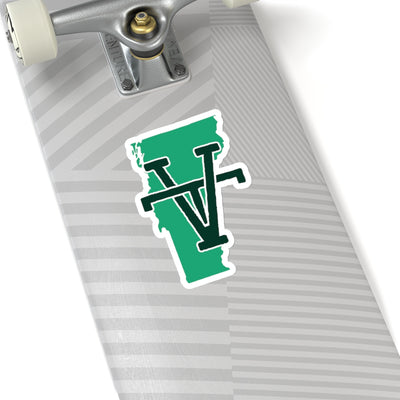 Vermont Home State Sticker (Green & Black)
