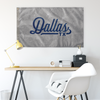 Dallas Texas Wall Flag (Grey & Blue)-Allegiant Goods Co.