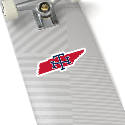 Tennessee Home State Sticker (Red & Navy Blue)