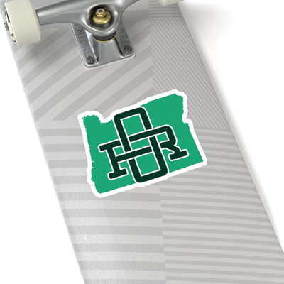 Oregon Home State Sticker (Green & Forest Green)